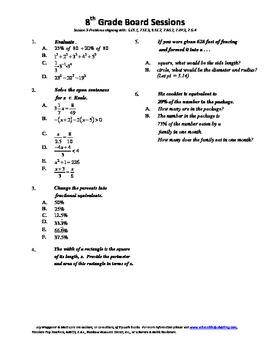 8th Grade Board Session 9,Common Core,Review,Math Counts,Q