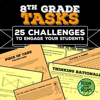 8th Grade Math Tasks Bundle