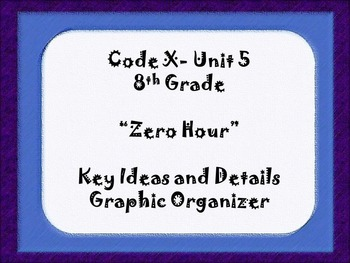 8th Grade Code X Unit 5:  Zero Hour Key Ideas and Details