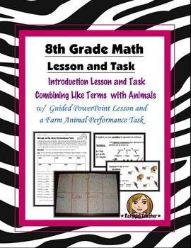 8th Grade Common Core Math [Guided Task] - Combining Like