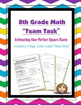 8th Grade Common Core Math {Team Task} ~ Approximating Non