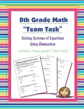 8th Grade Common Core Math {Team Task} ~ Solving Systems b