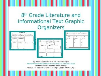 8th Grade Common Core Reading Graphic Organizers
