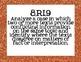 8th Grade ELA Common Core Posters- Bright Glitter