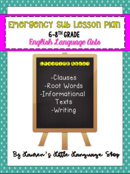 8th Grade ELA Emergency Substitute Lesson Plan