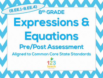 8th Grade Expressions & Equations (8.EE.1 - 8.EE.4) Common