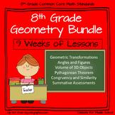 8th Grade Geometry: 9 Week Comprehensive Unit on Geometry