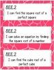 8th Grade I Can Statements (bright giraffe print)