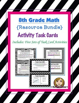 "8th Grade Math Activity ""Task Card"" [[Bundle]]"