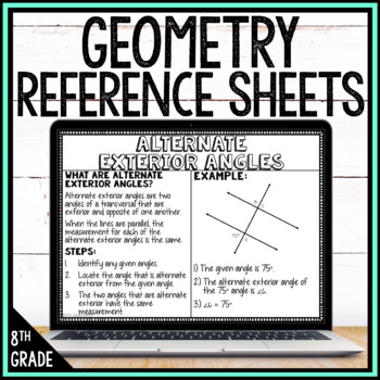 8th Grade Math Anchor Charts: Geometry Bundle