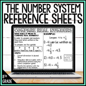 8th Grade Math Anchor Charts: The Number System Bundle
