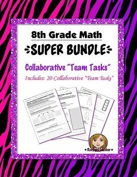 "8th Grade Math Collaborative ""Team Task"" {{Super Bundle}}"