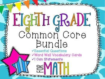 8th Grade Math Common Core Bundle! Everything You Need! *G