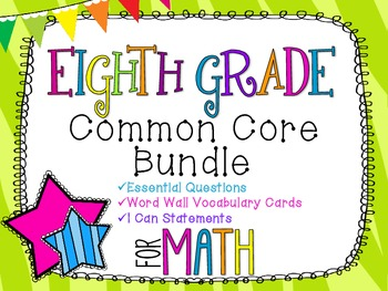 8th Grade Math Common Core Bundle! Everything You Need! *Z