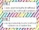 8th Grade Math Common Core *I Can Statements* Rainbow Stripes