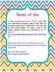 8th Grade Math Common Core Word Wall Bundle (Bright Chevro