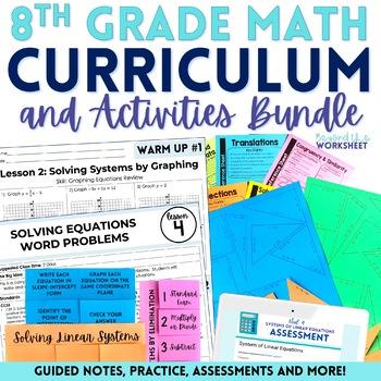 8th Grade Math Curriculum and Activities