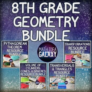8th Grade Math Geometry Activity Bundle