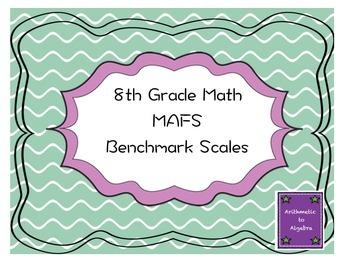 8th Grade Math MAFS Benchmark Scales
