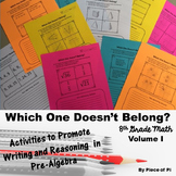 8th Grade Math Pre Algebra Writing Activities {Volume I}