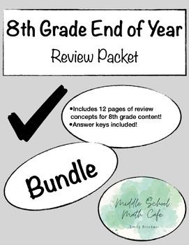 8th Grade Math Review Topics