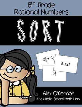 8th Grade Math Sort - Rational Numbers