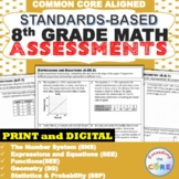 8th Grade Math Standards Based Assessments * All Standards