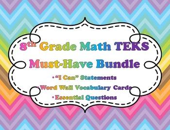 8th Grade Math TEKS Must-Have Bundle