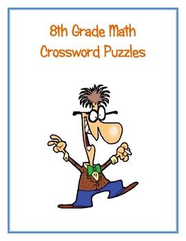 8th Grade Math Vocabulary Crossword Puzzles
