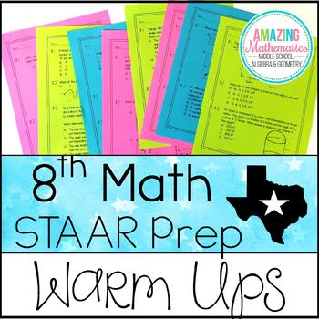 8th Grade Math Warm Ups - STAAR Prep