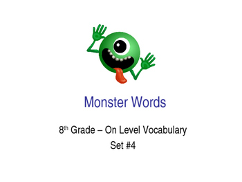 8th Grade On-Level Dolch Words – Set #4 - Special Educatio