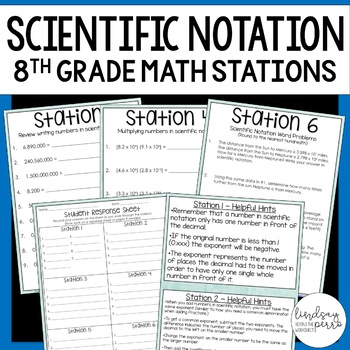 Scientific Notation Math Stations
