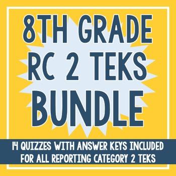 8th Grade RC 2 TEKS BUNDLE! (All RC 2 TEKS)