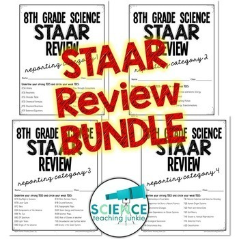 8th Grade Science STAAR Review BUNDLE