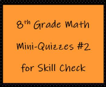 8th Math TCAP Mini Quizzes #2