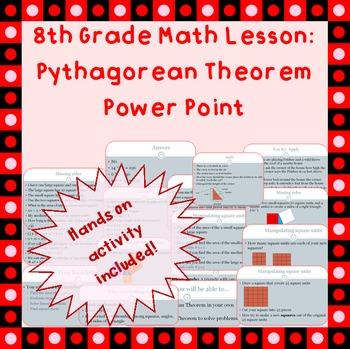 8th grade Pythagorean Theorem Power Point Presentation