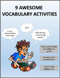 Vocabulary Activities For All Subject Areas
