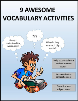 9 Awesome Vocabulary Activities