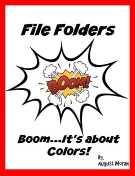 9 File Folder for Colors Great for Special Education, PreK