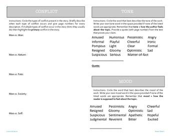 9 Literary Elements Booklet - Editable
