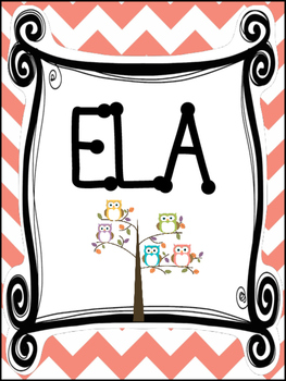 9 Owl themed Printable Binder and Spine Labels Classroom O