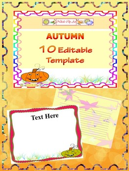 Fall - Bundle - 10 EDITABLE POWERPOINT TEMPLATE - 80 pages