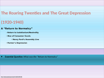 9. Roaring Twenties and Great Depression - Lesson 1 of 6 -