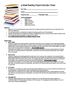 9 Week Independent Reading Project