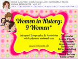 9 Women in History Adapted Biographies for Special Education