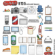 """Office / Technology Clip Art: """"9 to 5"""""""