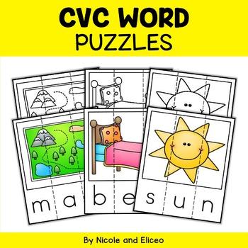 CVC Word Word Work Puzzles