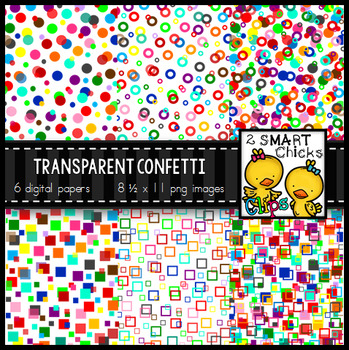 900 Follower Freebie  – Transparent Confetti Overlay Backg