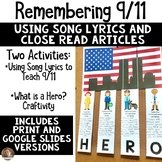 9/11 Close Read Using Lyrics- Where Were You When the Worl