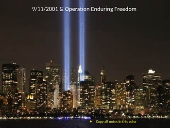 9/11/2001 & Enduring Freedom Powerpoint Lesson (With Asses